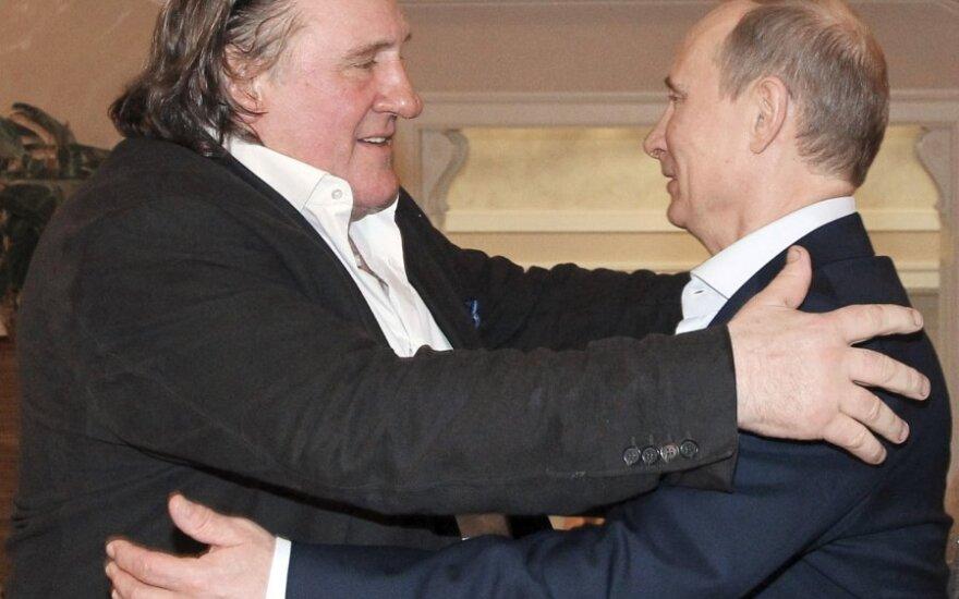 Gerardas Depardieu Sočyje susitiko su Vladimiru Putinu