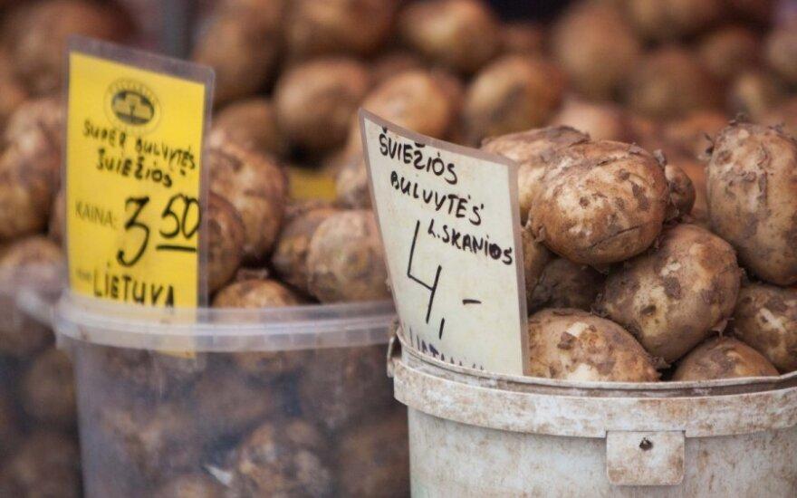 Россияне платят за картофель дорого, но литовцев не пускают