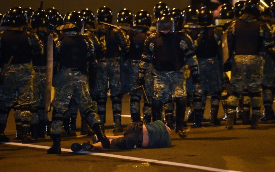 Baltarusiai Minske protestuoja prieš rinkimų rezultatus