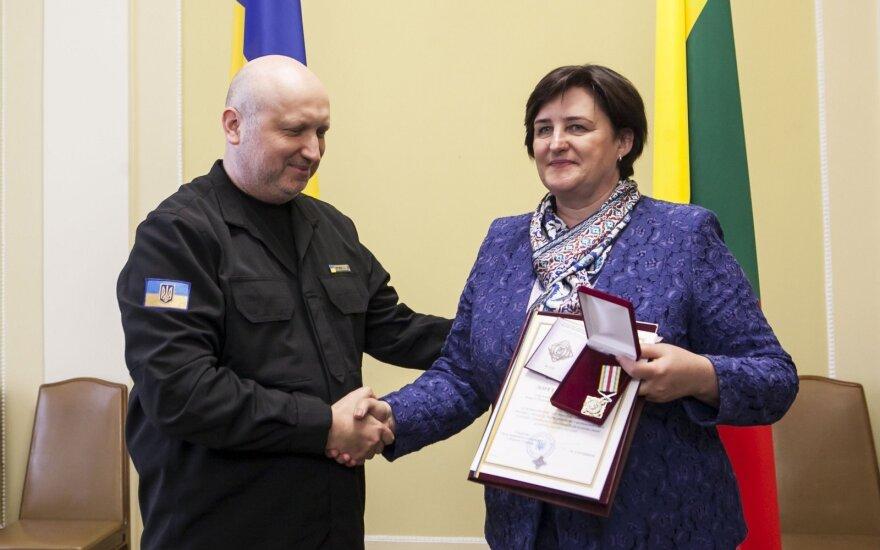 Graužinienė odznaczona na Ukrainie