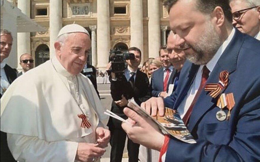 Папа Римский Франциск не знал, что такое георгиевская лента