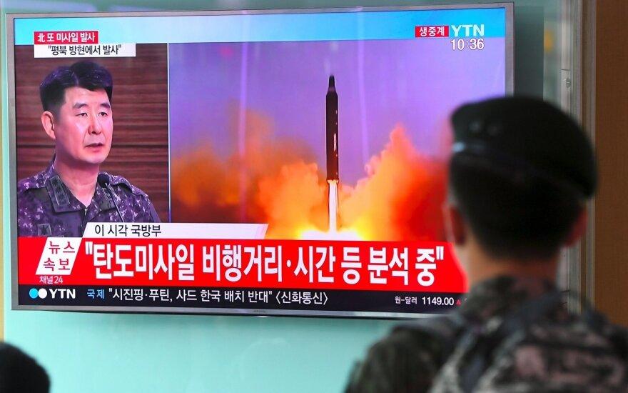 Šiaurės Korėja paleido raketą į Japonijos jūrą