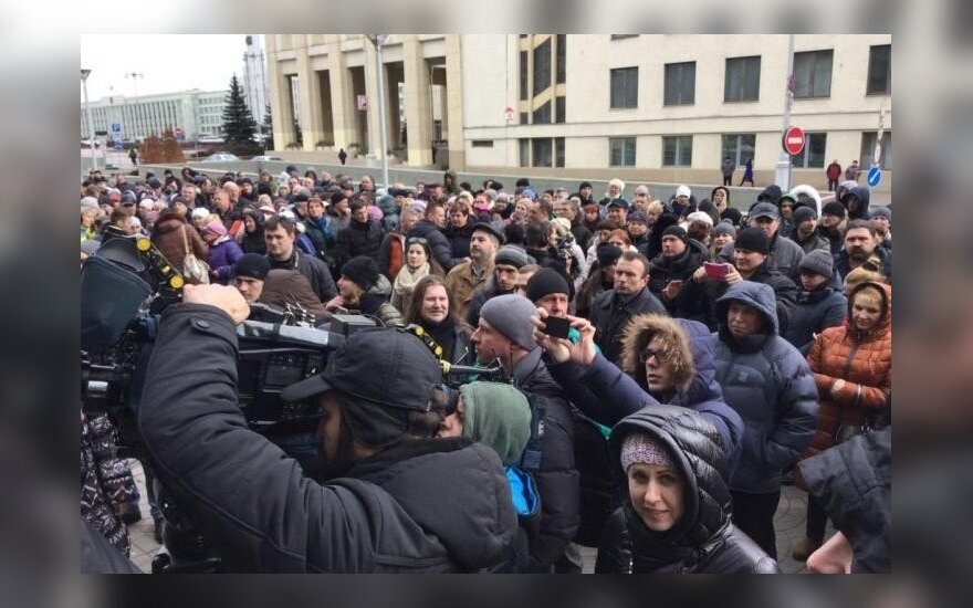 В Минске прошла несанкционированная акция предпринимателей