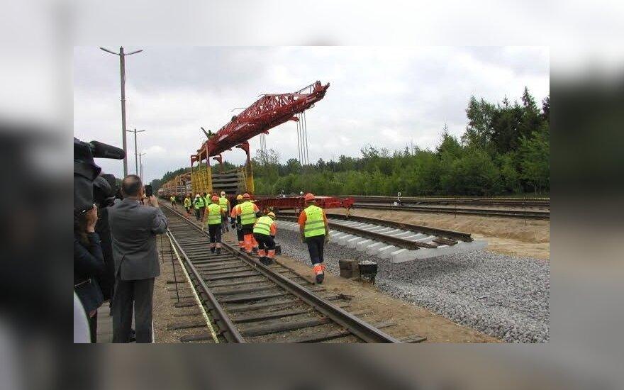 Завершено строительство отрезка Rail Baltica под Каунасом