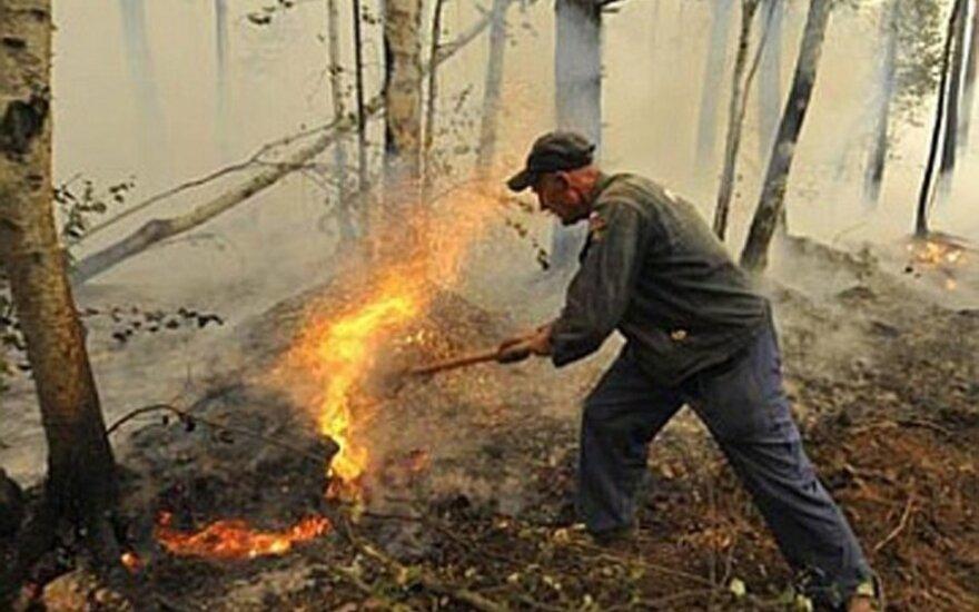 Rusijos Chakasijoje siautė pražūtingas gaisras