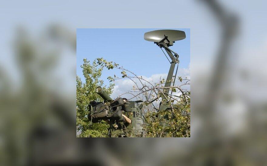 """Artimo nuotolio raketinė sistema RBS-70 ir apžvalgos radaras """"Giraffe MK-IV"""""""