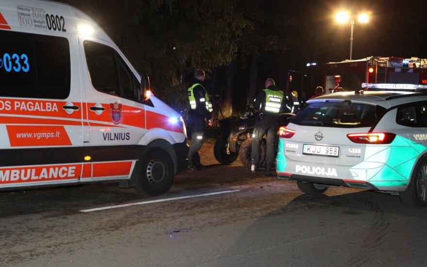 В Вильнюсе погиб водитель квадроцикла