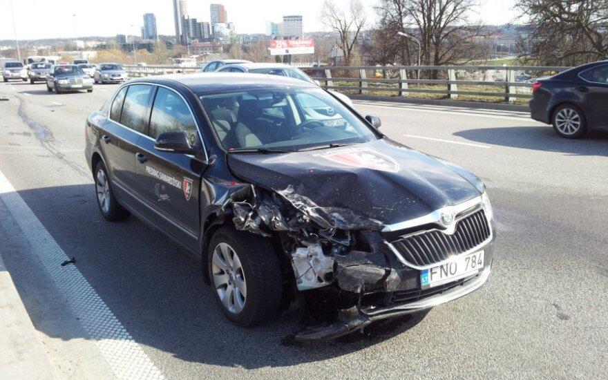 Predrago Samardžiskio vairuojamas  automobilis patyrė avariją