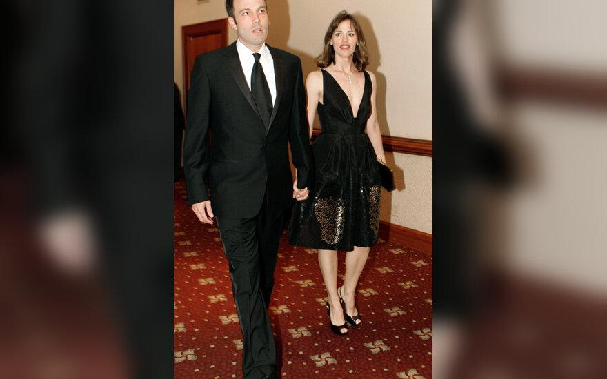 Benas Affleckas su žmona Jennifer Garner
