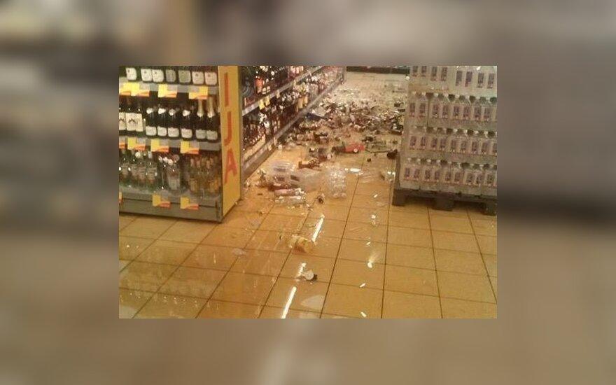 Разнервничавшийся молодой человек разгромил магазин