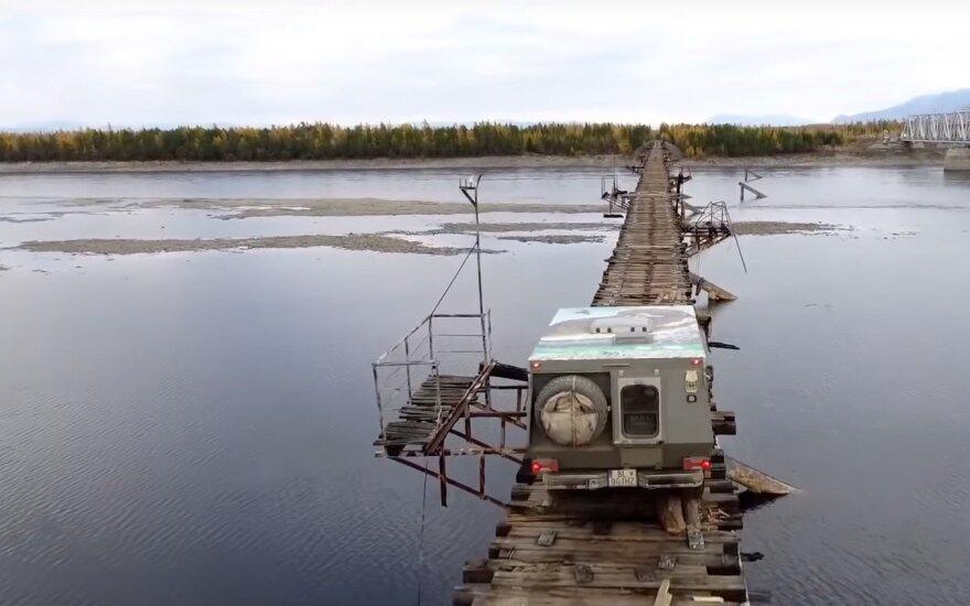 ВИДЕО: Самый опасный мост России смыло ледоходом