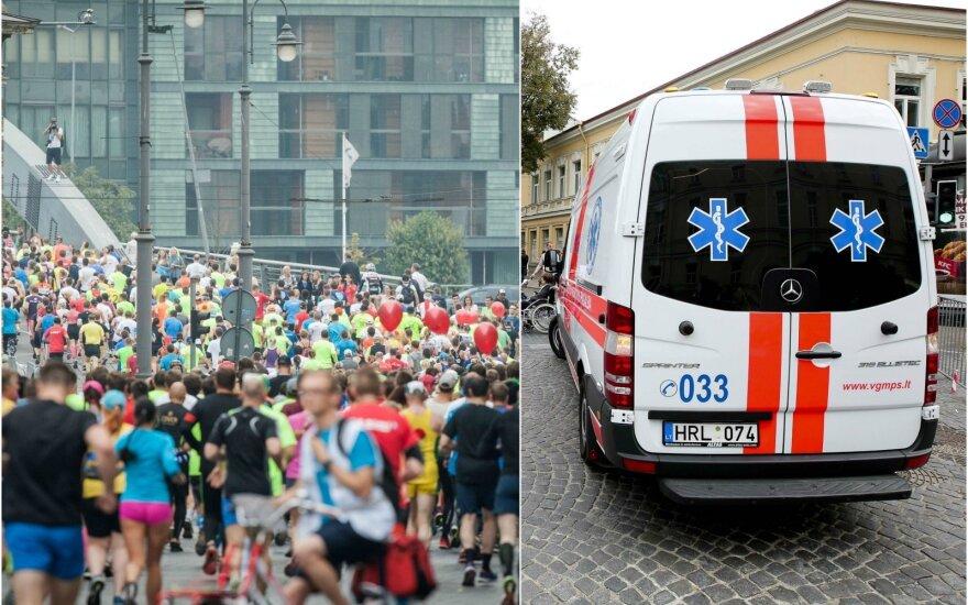 Per Vilniaus maratoną darbo turėjo ir greitoji pagalba