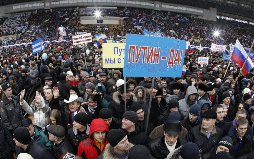 Vladimiro Putino rėmėjų mitingas