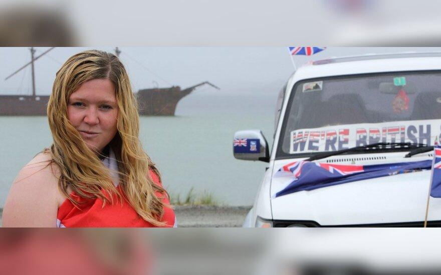 Folklando gyventojai dalyvauja referendume dėl salos ateities