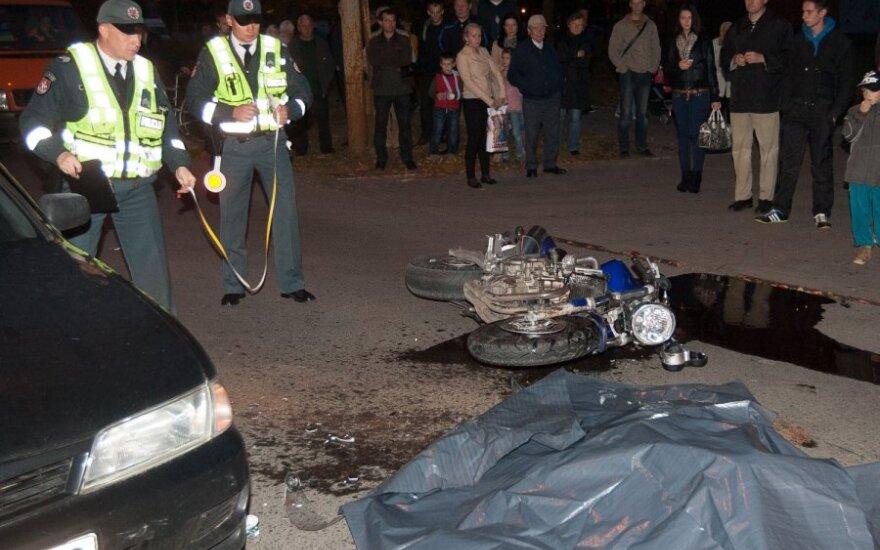 В Вильнюсе в ДТП погиб 23-летний мотоциклист