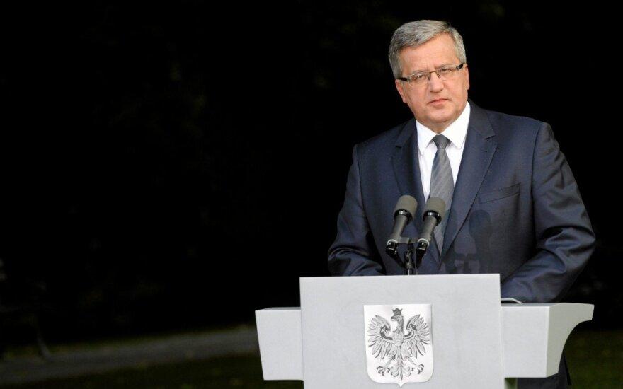 Bronisław Komorowski: Polska chce reprezentować interesy Europy Środkowej