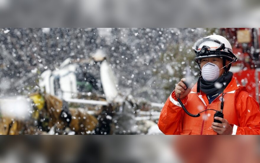 Japoniją užklupo sniegas
