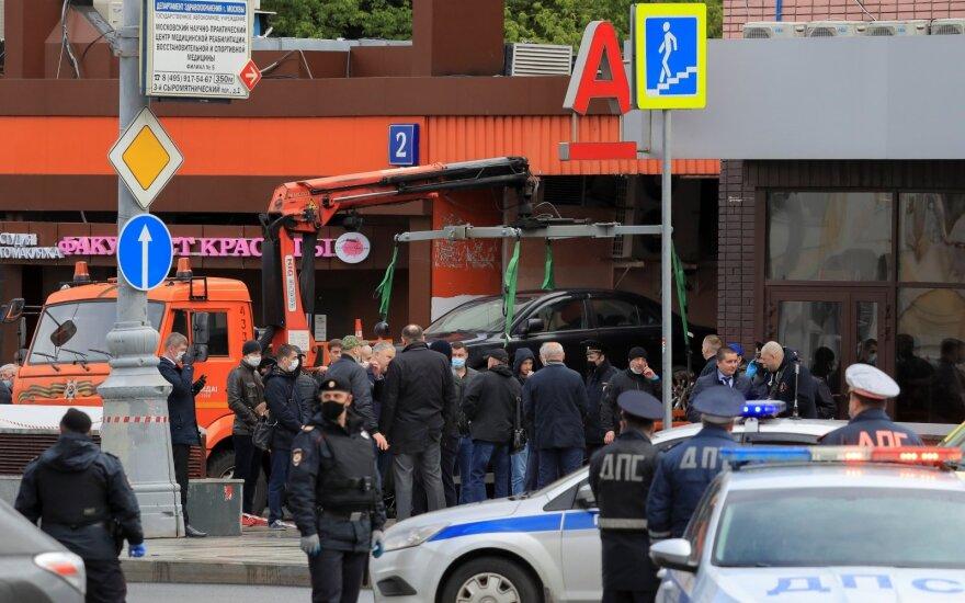 Maskvoje į banko skyrių įsiveržęs užpuolikas paėmė įkaitų