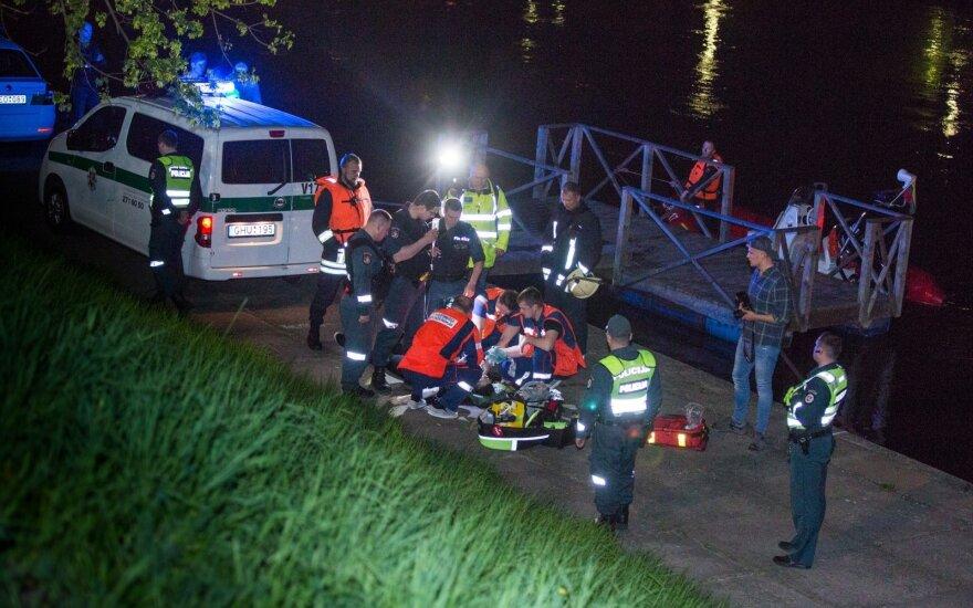 В центре Вильнюса в реку упал человек - его спасти не удалось