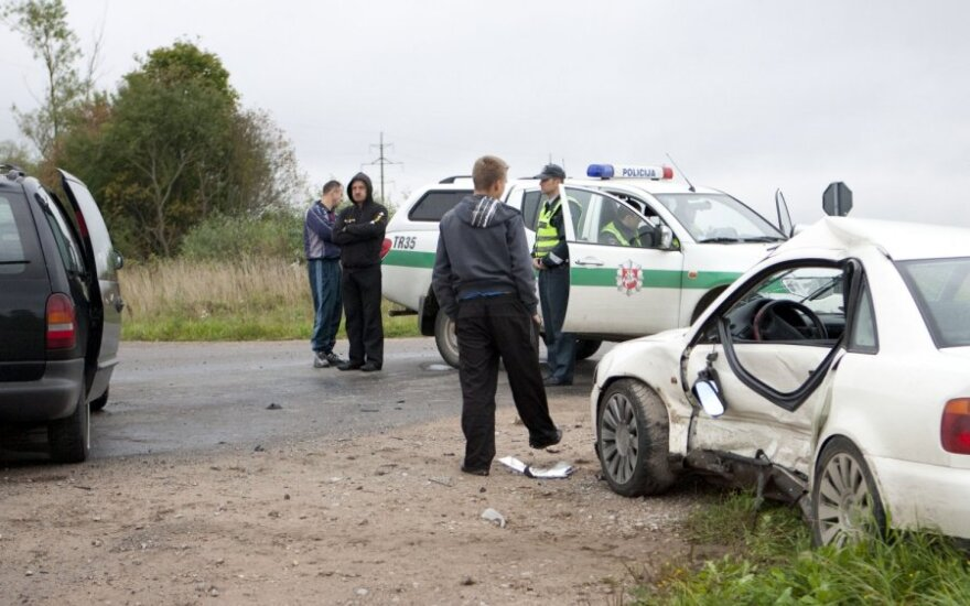 Преследование Audi от Тракай до Вильнюса закончилось аварией