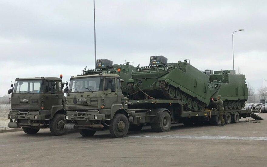 Atnaujinti Lietuvos kariuomenės vadovavimo šarvuočiai M577