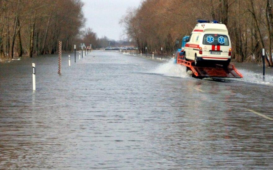 Potvynis Rusnės saloje (Šilutės raj.)