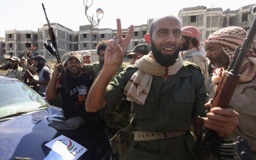 Libija džiaugiasi žinia apie sučiuptą Muammarą Gaddafi