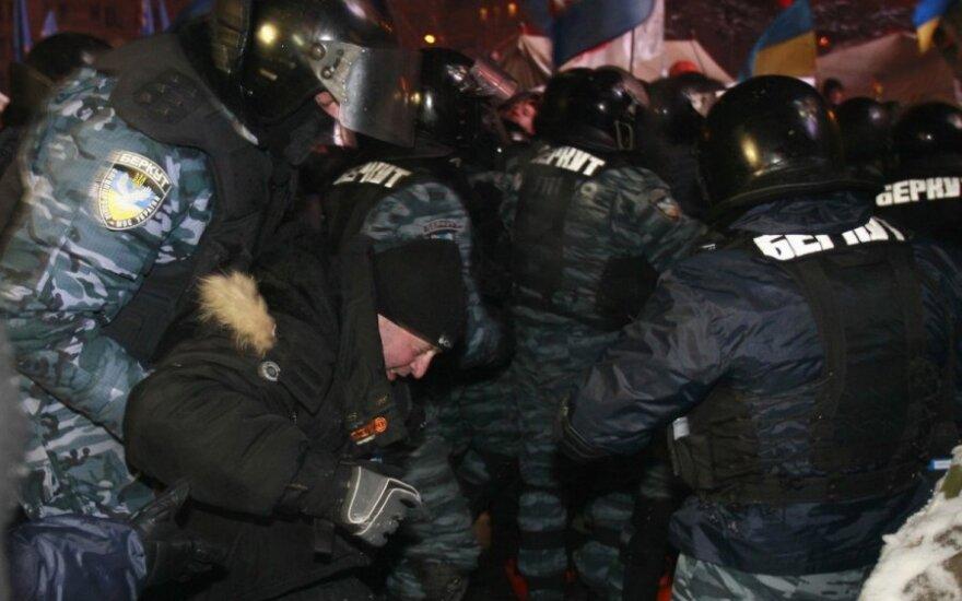 """""""Беркут"""" насчитал 20 пострадавших в столкновении у суда Киева бойцов"""