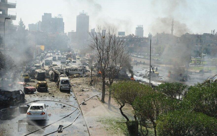 Sirijos sostinę sudrebino galingas sprogimas