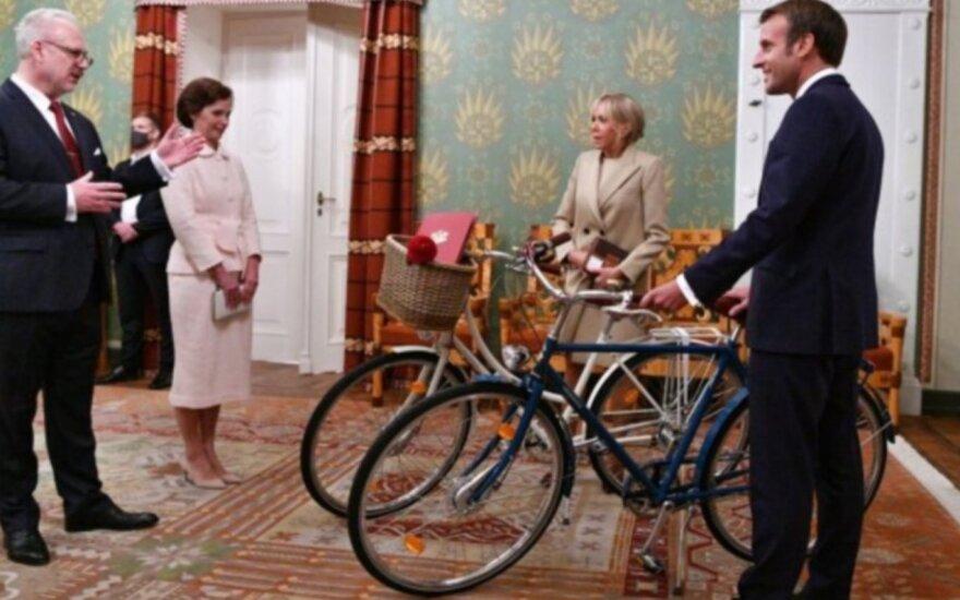 Emmanuelio Macrono ir Brigitte Macron vizitas Latvijoje