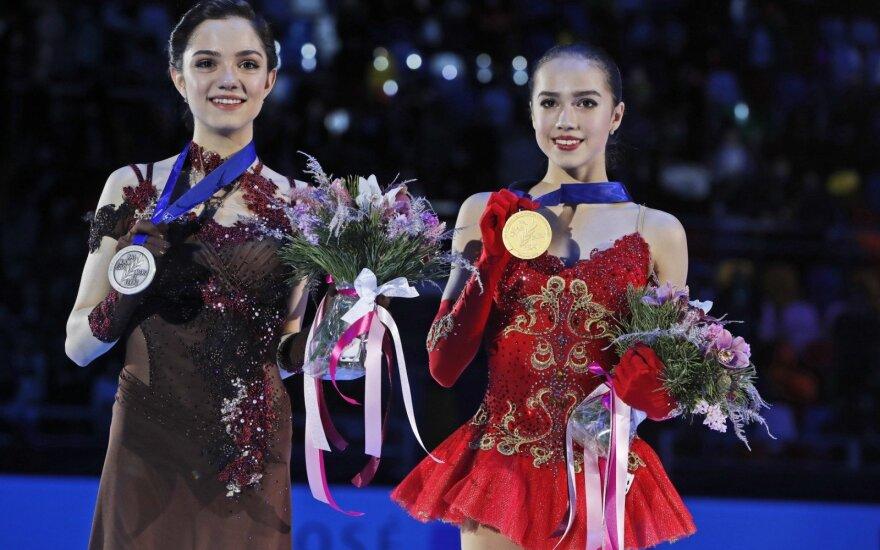 Jevgenija Medvedeva ir Alina Zagitova