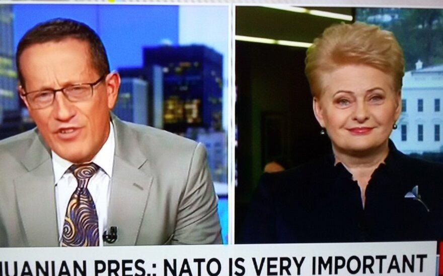 """Президент Литвы для CNN отказалась комментировать слова Трампа об """"отжившем"""" НАТО"""