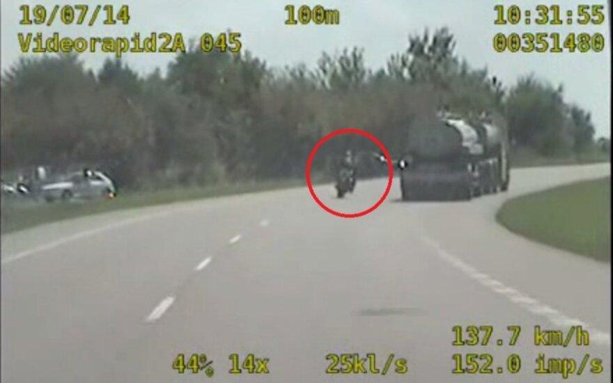 Ucieczka motocyklisty