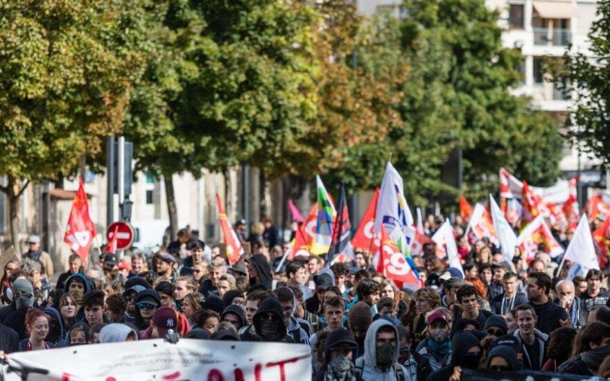 Demonstracijos Prancūzijoje prieš E. Macrono reformas