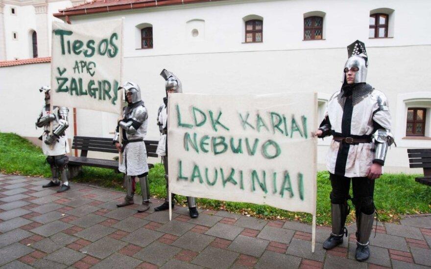 "В Вильнюсе протестовали ""крестоносцы"""