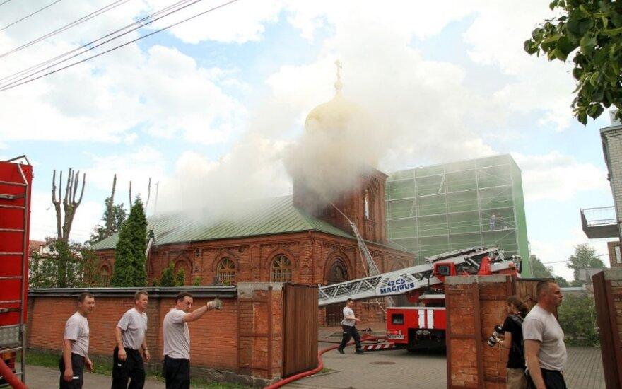 В Каунасе горела церковь Николая Чудотворца
