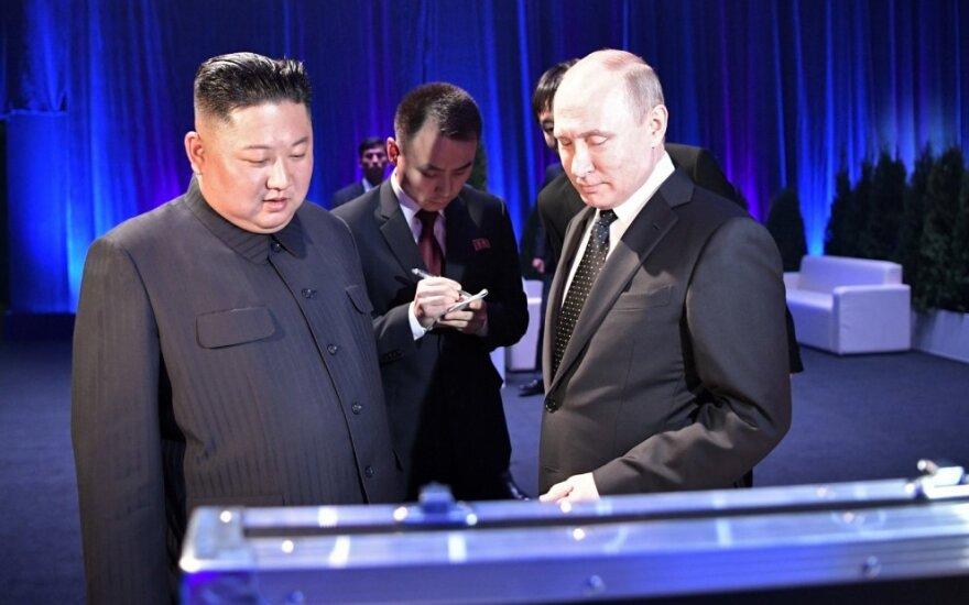 Kim Jong-uno ir Vladimiro Putino susitikimas
