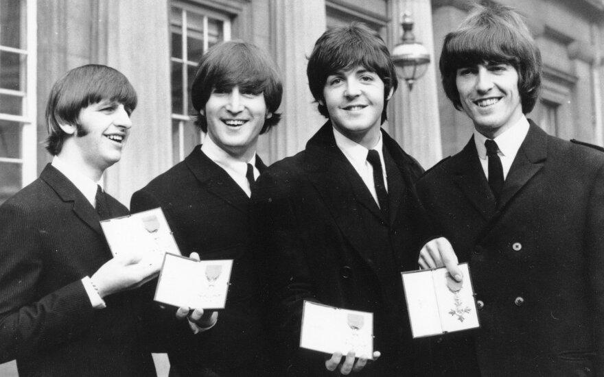 The Beatles nariai: Ringo Starr, John Lennon, Paul McCartney ir George Harrison