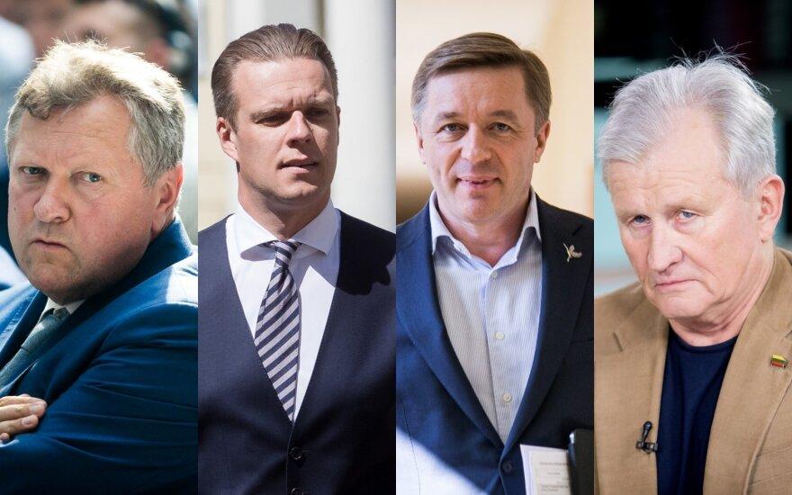 Kazys Starkevičius, Gabrielius Landsbergis, Ramūnas Karbauskis, Kęstutis Glaveckas