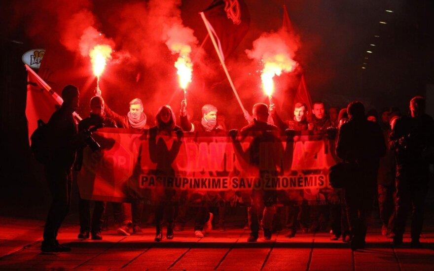 Protestas Kaune prieš pabėgėlius