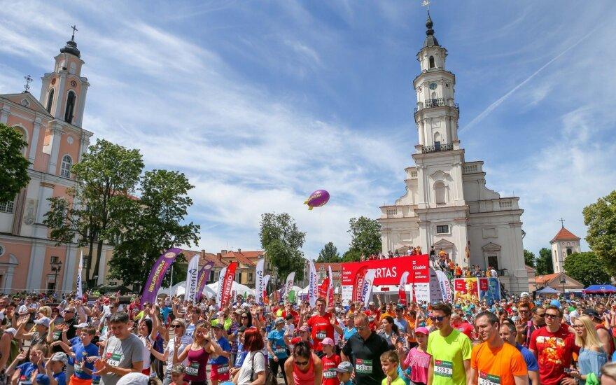 В Каунасе проходит самый крупный марафон в Литве