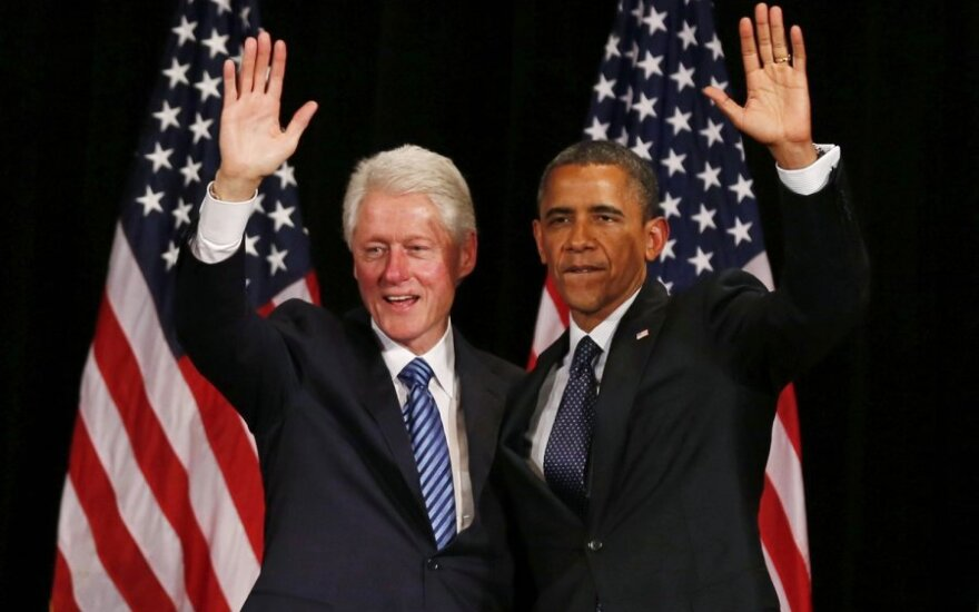 Billas Clintonas ir Barackas Obama