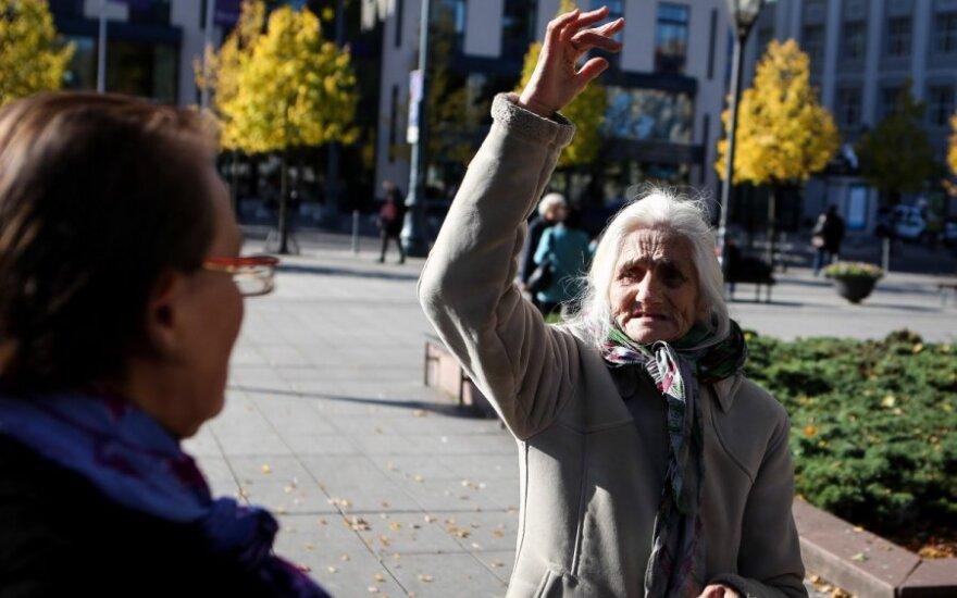 В Вильнюсе сотни протестующих требовали повышения пенсий