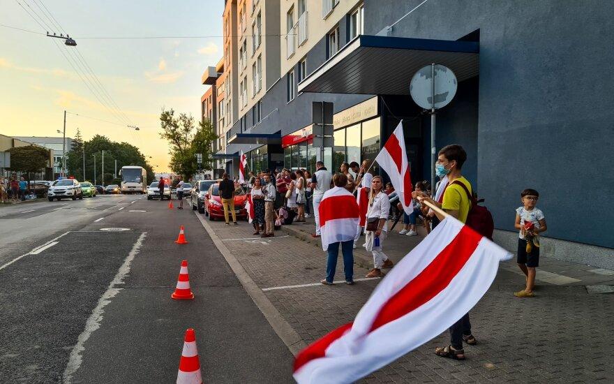 У посольства Беларуси в Вильнюсе состоялась акция протеста