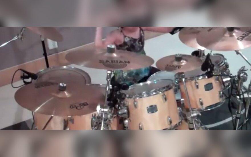 Fenomenalna dziesięcioletnia perkusistka