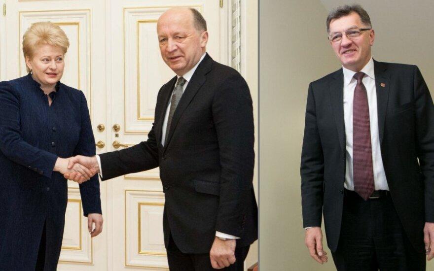 Dalia Grybauskaitė, Andrius Kubilius ir Algirdas Butkevičius