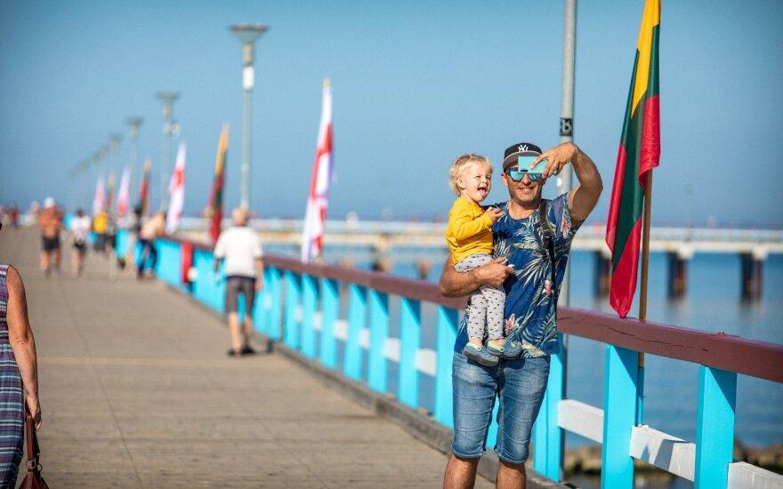 Baltarusijos vėliavos Palangoje