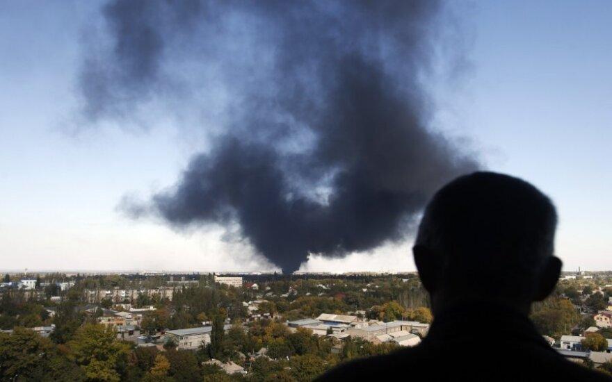 Аэропорт Донецка - в руинах после боев