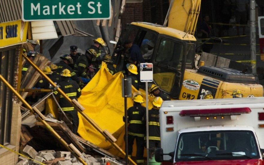 В Филадельфии обрушилось здание, шесть человек погибли