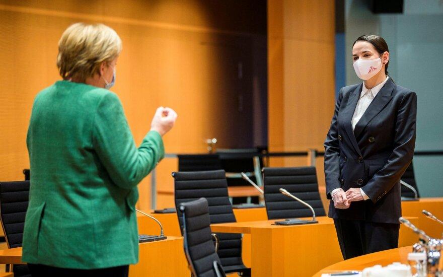 Sviatlana Cichanouskaja susitinka su Angela Merkel